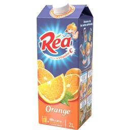Nectar orange, à base de jus concentrés, riche en pulpe