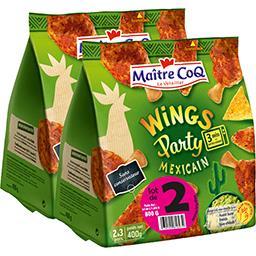 Manchons de poulet Wings Party mexicain