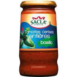 Sauce aux tomates cerises entières basilic