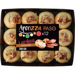 Mini pizza béchamel lardons