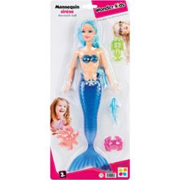 Poupée mannequin sirène, modèles assortis