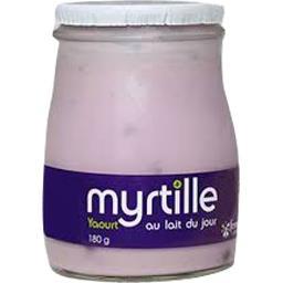 Sélectionné par votre magasin Yaourt au lait du jour myrtille le pot de 180 g