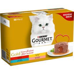 Gold - Pâtée pour chats assortiment Cœur Fondant