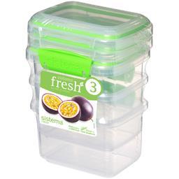Boites alimentaires rectangulaires à clips Fresh 400 ml
