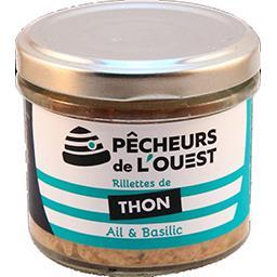Pêcheurs de l'Ouest Rillettes de thon ail & basilic le pot de 90 g