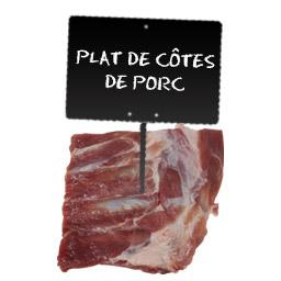 Plat de côtes de porc