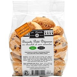Biscuits petit déjeuner vegan choco amandes