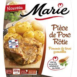Pièce de porc rôtie, pommes de terre grenailles