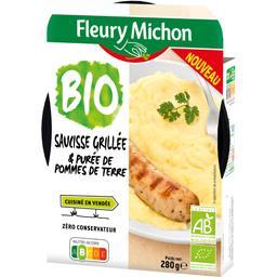 Fleury Michon Saucisse grillée & purée de pommes de terre BIO la barquette de 280 g