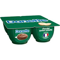 Danette - Crème dessert chocolat saveur noisette