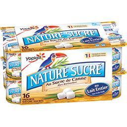 Yaourt nature sucré au sucre de canne