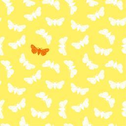 Serviettes 3 plis 40x40 cm jaune Butterfly