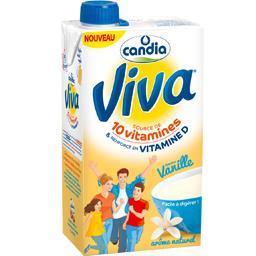 Candia Viva - Lait saveur vanille la brique de 1 l
