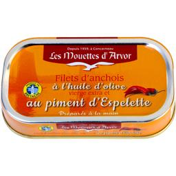 Filets d'anchois à l'huile d'olive et piment d'Espel...