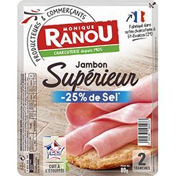 Mon Gourmand, jambon découenné dégraissé , 25% de se...