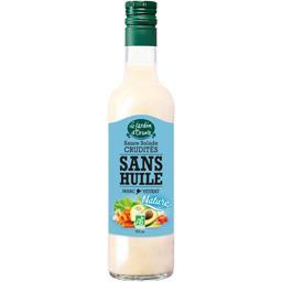 Le Jardin d'Orante Sauce salade crudités nature sans huile BIO la bouteille de 500 ml