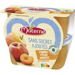 Sans Sucres Ajoutés - Spécialité pomme pêche abricot