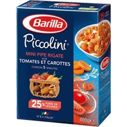 Piccolini - Mini pipe rigate aux tomates et carottes