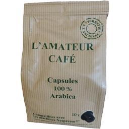 Capsules de café L'Amateur Café 100% arabica