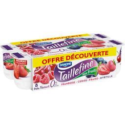 Yaourt brassé aux fruits framboise cerise fraise myr...