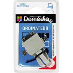 Adaptateur USB mâle A/mâle dock, USB mini, USB micro, 0,2 m