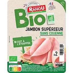 Jambon cuit supérieur avec couenne BIO