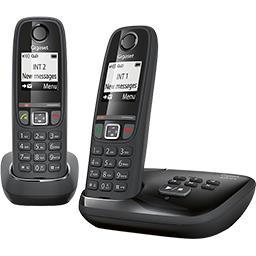 Téléphones sans fil AS 470, noir