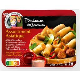 Assortiment asiatique et sauces aigre-douce Nuoc Mam