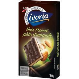 Chocolat noir fourré pâte d'amande