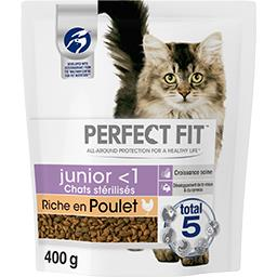 Perfect fit Croquettes riche en poulet Junior <1 pour chats stér... le sachet de 400 g