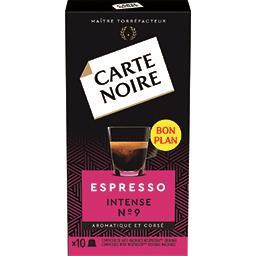 Capsules de café moulu Espresso Intense n°9