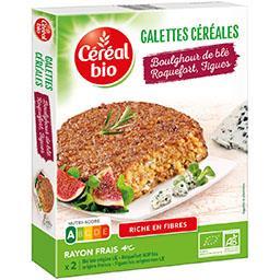Galettes céréales boulghour de blé roquefort figues ...