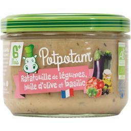 Potpotam Tian de legumes huile d'olive basilic Pot de 180g