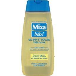 Gel bain et douche, sans savon, à l'huile d'amande d...