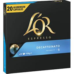 Capsules de café Decaffeinato