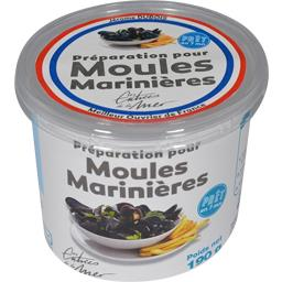 Les Entrées de la Mer Préparation pour moules marinières le pot de 190 g