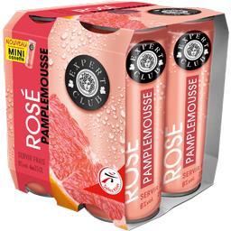 Expert Club Boisson aromatisée rosé pamplemousse les 4 cannettes de 25 cl