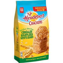 Heudebert Crackers céréales soufflées le paquet de 200 g