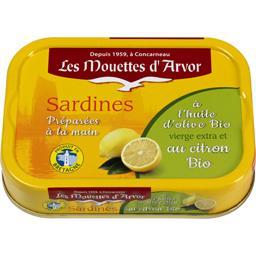 Sardines à l'huile d'olive BIO et au citron BIO