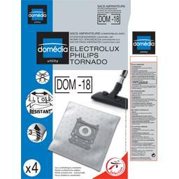 Sacs aspirateurs DOM-18 compatibles Electrolux, Phil...