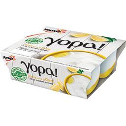Yopa ! - Yaourt nature sur lit de citron