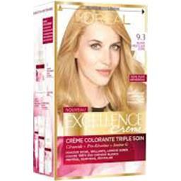 Excellence crème 9 (3), crème colorante permanente blonde très clair doré