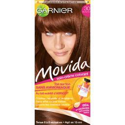 Movida, soin crème colorant ton sur ton acajou 30, sans ammoniaque