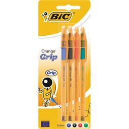 Stylo bille Orange Grip fine 0,8 mm assortis
