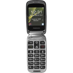 Téléphone GSM 2,4'' noir à clapet SEREA63BLK