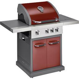 Barbecue à gaz pro 3 + 1 feu rouge