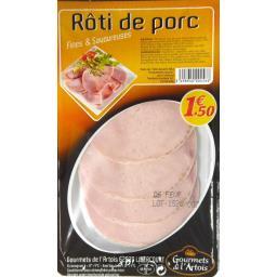 Rôti de porc, fines & savoureuses, 4 tranches