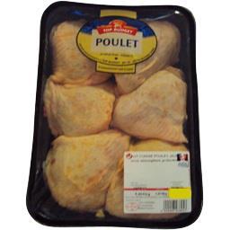 Haut de cuisse de poulet jaune avec portion de dos