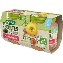 Blédina Les Récoltes BIO - Pommes fraises BIO, dès 6 mois