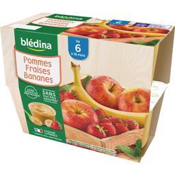 Desserts pommes fraises bananes, de 6 à 36 mois